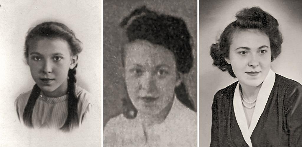 Od lewej: Wira w wieku dziewięciu lat, 1938 rok; w wieku 14 lat, po przystąpieniu do ruchu oporu, 1944 rok; w Londynie, lata 50. (fot. archiwum prywatne)