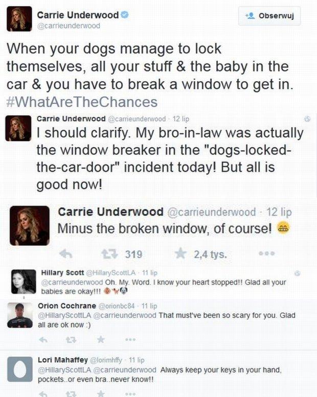 Komentarze na profilu Carrie Underwood