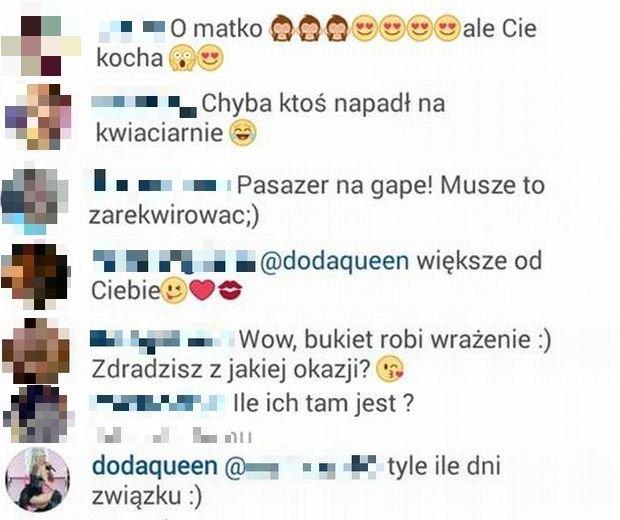 Komentarze z Instagrama