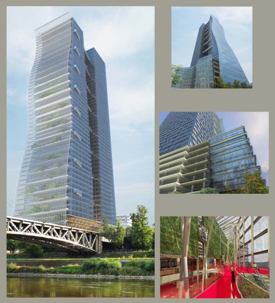 Wizualizacja nowego wieżowca nad Wisłą
