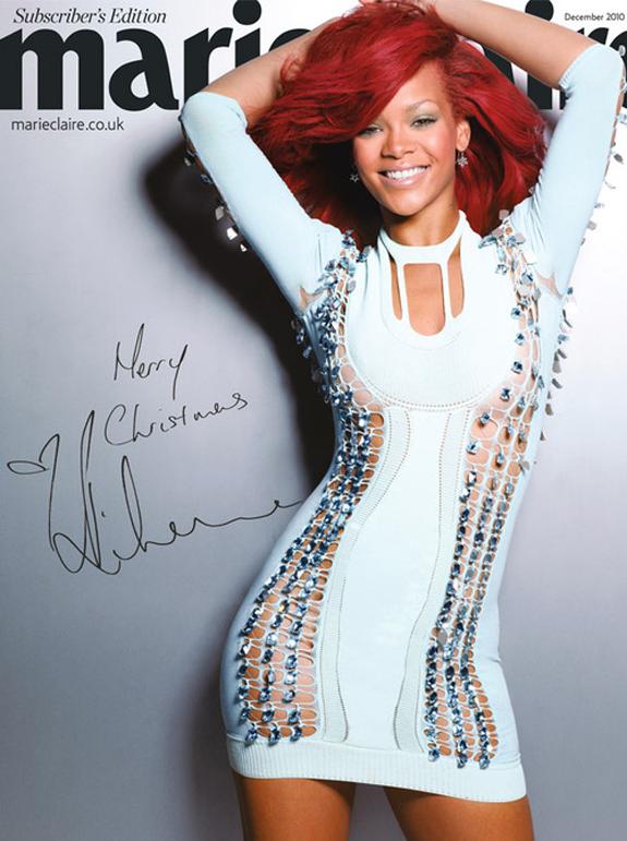 Rihanna w świątecznym wydaniu Marie Claire z 2010 roku