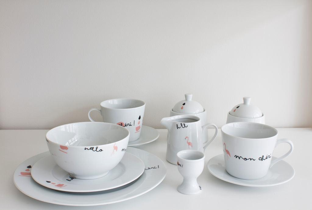 Kolekcja Flaming autorstwa polskiej projektantki Magdy Pilaczyńskiej, Porcelana Kristoff (fot. dzięki uprzejmości Porcelanowa.com)