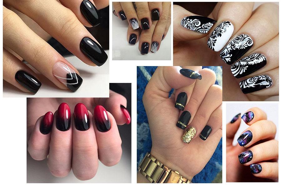 Czarne paznokcie nadają się na każdą okazję - sprawdź!