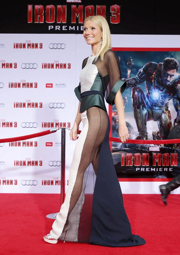 Cast member Gwyneth Paltrow poses at the premiere of