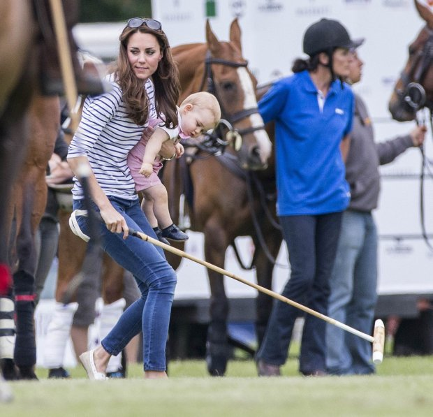 120935, Catherine, The Duchess of Cambridge and Prince George watch Prince William and Harry play polo in Cirencester, London. UK, FRANCE, AUS, NZ, CHINA, HONG KONG, TAIWAN, SPAIN & ITALY OUT Photograph: ? i-Images, PacificCoastNews. Los Angeles Office: +1 310.822.0419 London Office: +44 208.090.4079 sales@pacificcoastnews.com FEE MUST BE AGREED PRIOR TO USAGE