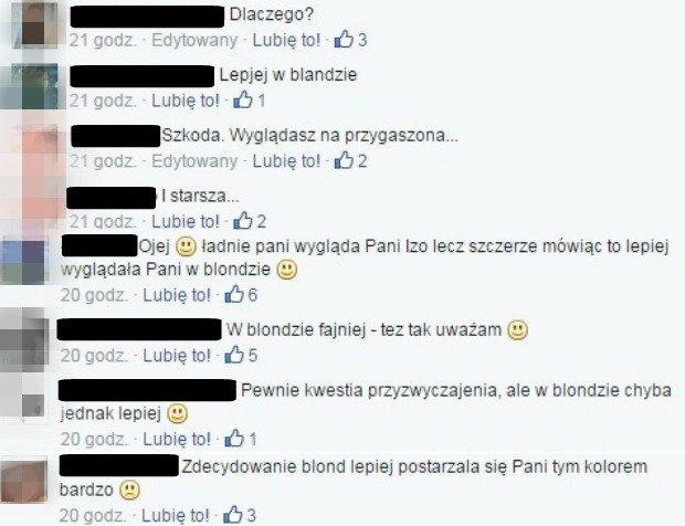 Internauci komentują nową fryzura Łukomskiej