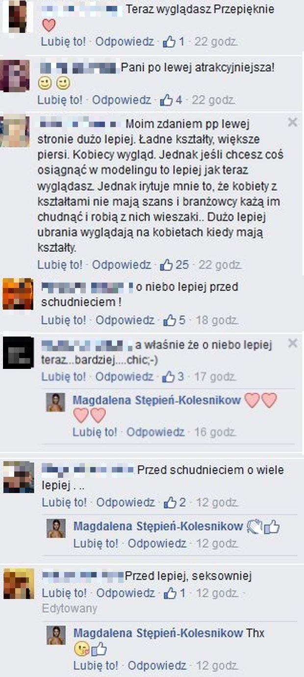 Komentarze na profilu Magdaleny Stępień-Kolesnikow