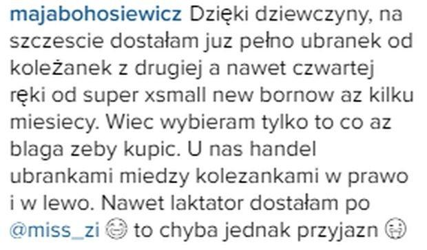 Komentarz Mai Bohosiewicz