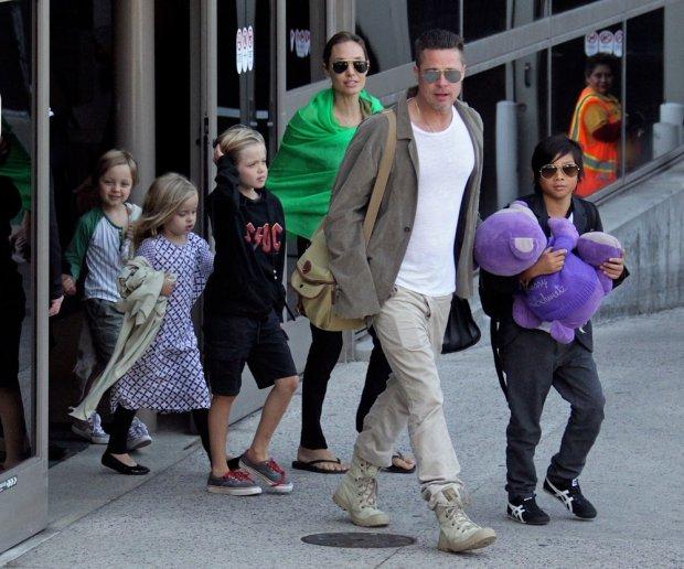 Angelina Jolie, Brad Pitt, dzieci gwiazd