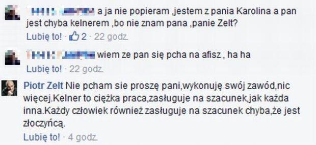 Piotr Zelt odpowiada internautce