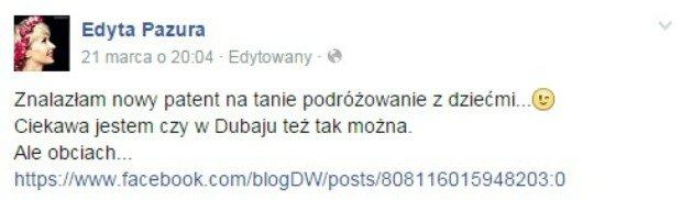 Edyta Pazura komentuje słowa Jarosława Kuźniara