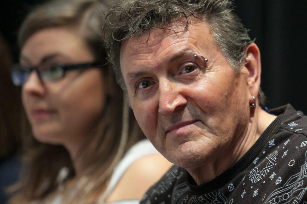 Krzysztof Majchrzak na konferencji prasowej twórców filmu ''Las, 4 rano'' (fot. Renata Dąbrowska / Agencja Gazeta)