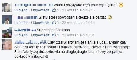 Posty pod wpisem Adrianny Biedrzyńskiej