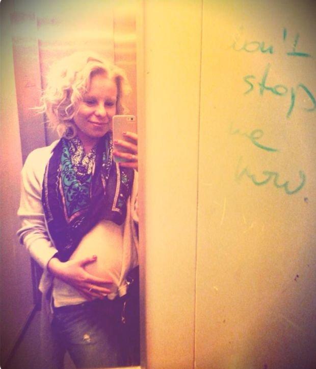 Alicja Janosz w ciąży