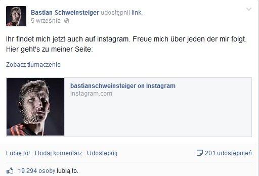 Basti na Instagramie!
