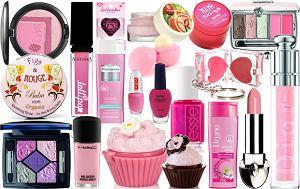 kosmetyki, róż, fuksja, pastele, wiosna 2012