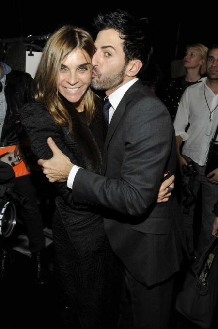 Carine Roitfeld, Marc Jacobs - 15 February 2010 - New York, NY - MARC JACOBS Fall 2010 Collection at the NY State Armory, NYC. Photo - BILLY FARRELL/PatrickMcMullan.com/Sipa Press/1002161625