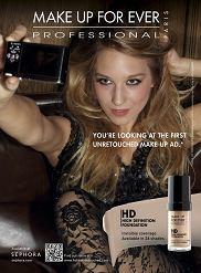 Kampania bez photoshopa Make Up Forever