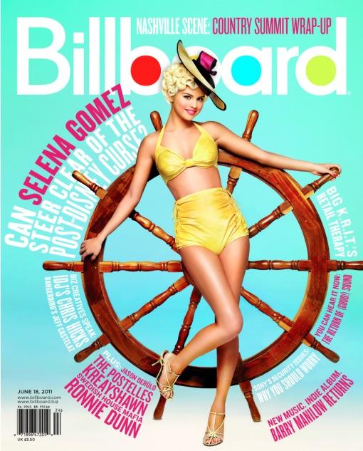 Selena Gomez na lipcowej okładce magazynu Billboard, 2011, gwiazdy, prosto z okładki, cover