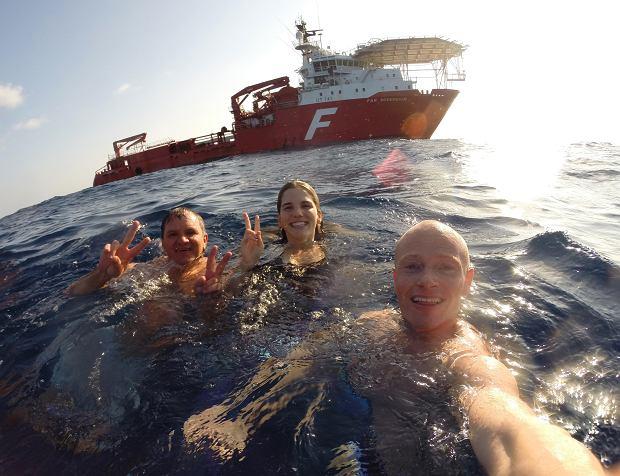 Kąpiel na równiku - Ocean Atlantycki