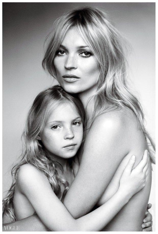 Kate Moss z córką w sesji dla