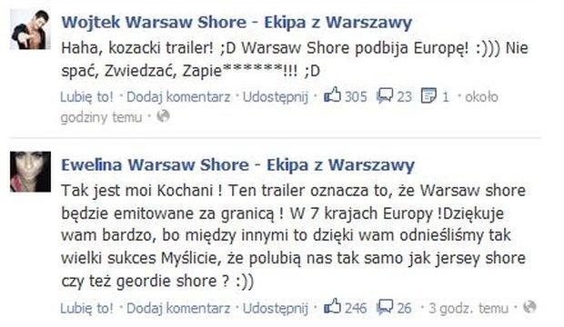 Warsaw Shore, Ekipa z Warszawy