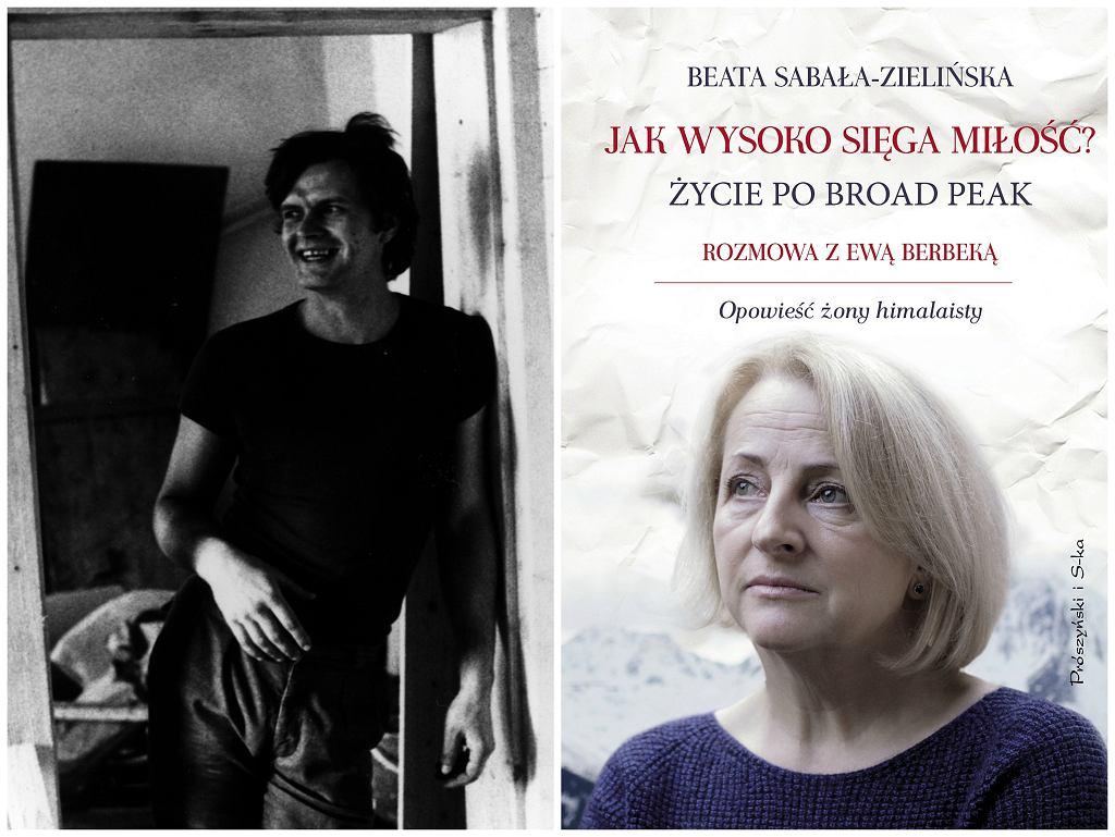 Maciej Berbeka i okładka książki 'Jak wysoko sięga miłość. Życie po Broad Peak' (fot. archiwum Ewy Berbeki/Whitney Justesen/Trevillion Image)