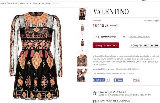 Sukienka Valentino