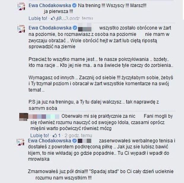 Komentarze z Facebook.com/Ewa Chodakowska