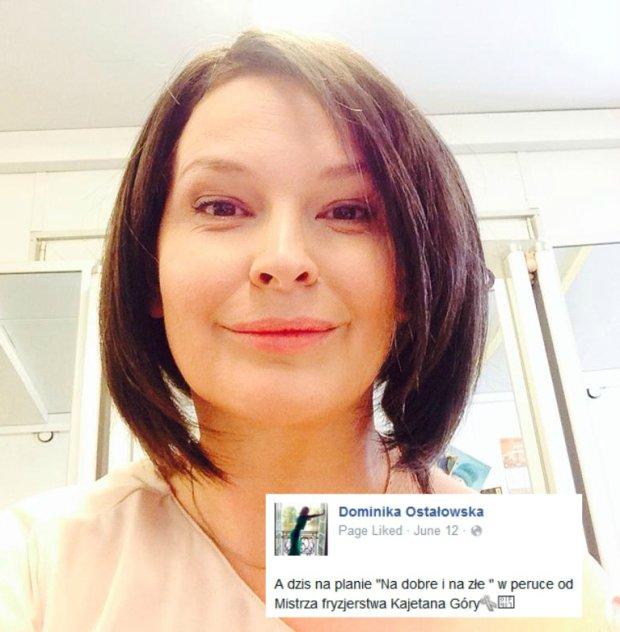 Dominika Ostałowska w peruce zagra w
