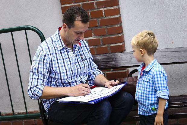 Maciej Mazur z synem Staszkiem