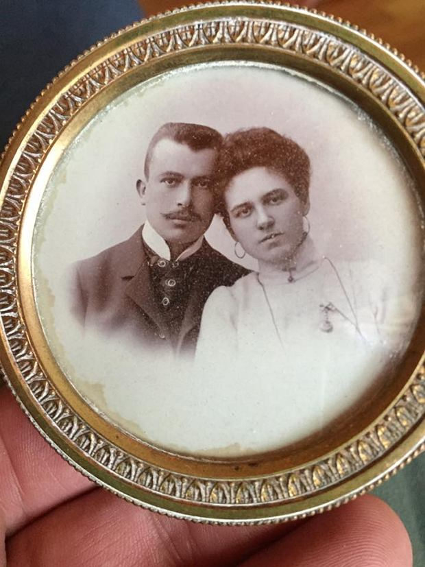 Sławomir Sławoszewski z żoną.