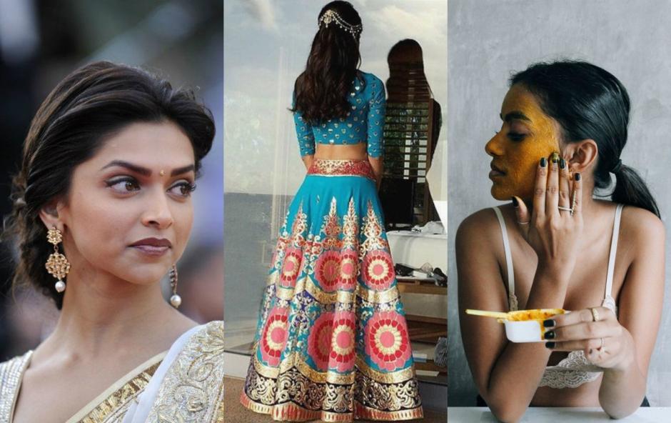 indyjskie kosmetyki naturalne / fot. Pinterest/ fot. pierwsza od lewej: Deepika Padukone