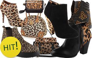 Buty i torebki w panterkę