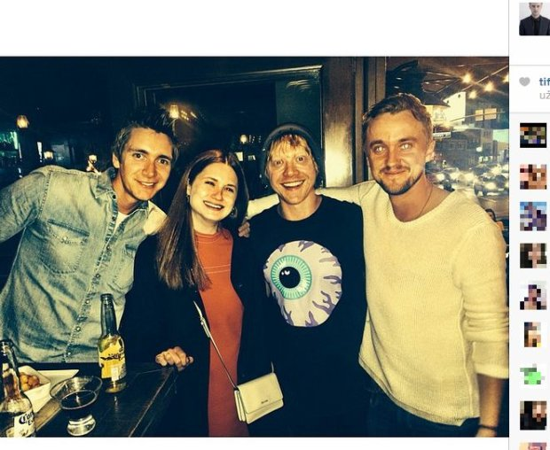 James Phelps, Bonnie Wright, Rupert Grint i Tom Felton