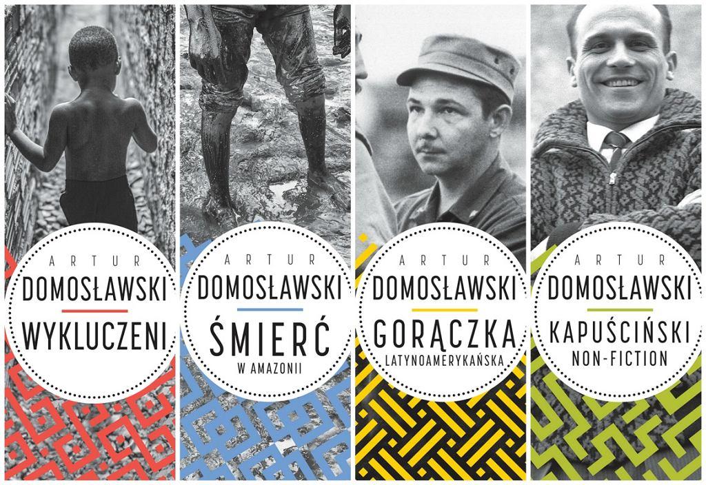 Okładki serii książek Artura Domosławskiego (fot. mat. wyd. Wielka Litera)
