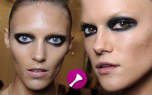 smokey eyes, makijaż oka, oko na pandę, czarne cienie do powiek, gucci wiosna/lato 2012