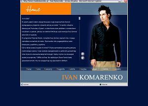 Strona internetowa Ivana Komarenko