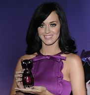 American singer Katy Perry attends the launch of her first fragrance