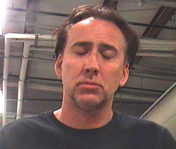 This booking photo released by Orleans Parish Sheriff's Office shows actor Nicolas Cage Saturday, April 16, 2011 in New Orleans. Authorities say Cage has been arrested in New Orleans on charges of domestic abuse battery and disturbing the peace. (AP Photo/Orleans Parish Sheriff's Office)