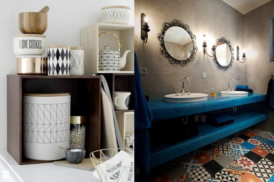 Geometryczne wzory w łazience i kuchni