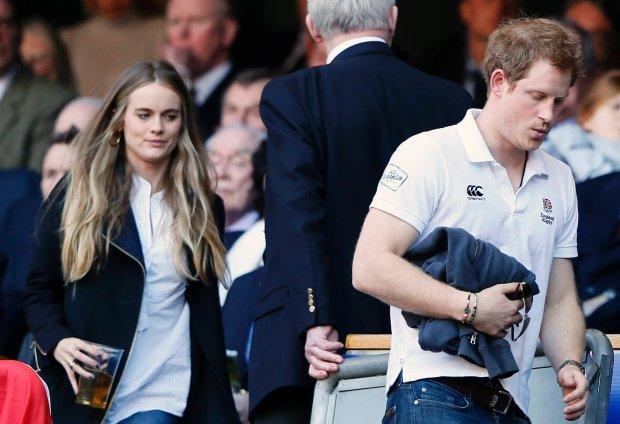 Britain's Prince Harry and Cressida Bonas attend England's Six Nations international rugby union match against Wales at Twickenham in London March 9, 2014. REUTERS/Stefan Wermuth (BRITAIN - Tags: SPORT RUGBY ROYALS)