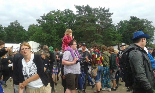 Na festiwalu pojawiali się rodzice z dziećmi.