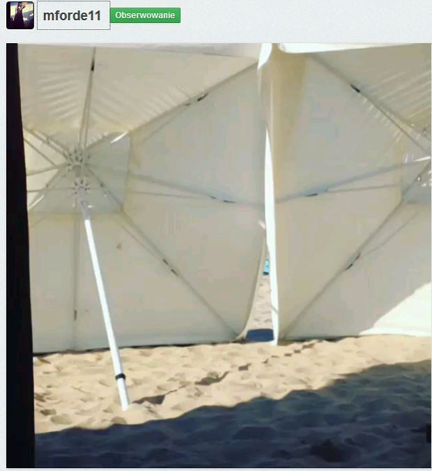 Rihanna zabarykadowana na plaży w Sopocie