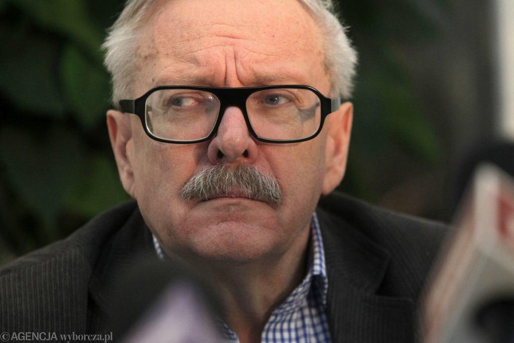 Marcin Wolski podczas konferencji