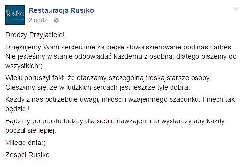 FB/ Restauracja Rusiko