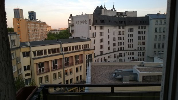 Widok z balkonu Dariusza Olszewicza