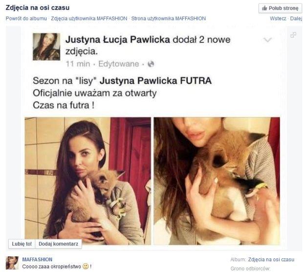 Post Justyny Pawlickiej