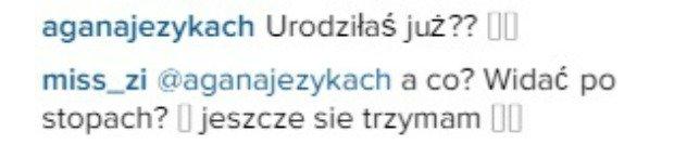Agnieszka Szulim komentuje zdjęcie Zofii Ślotały