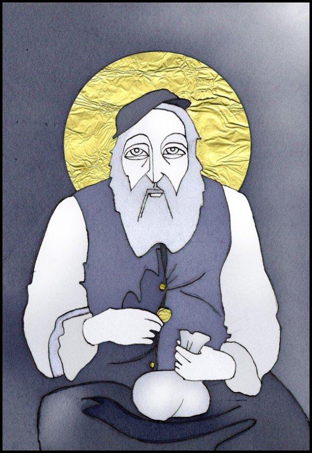 Nowy święty. rys. Yagna Magna, źródło: http://karo.iwasz.pl/blog/